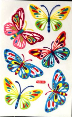 This is a Beautiful Butterfly Epoxy Stickers Stickers pack which measures approximately x Just peel and stick to cards, tags, scrapbook pages or any other project and you are done. Butterfly Drawing, Butterfly Painting, Butterfly Wallpaper, Embroidery Flowers Pattern, Flower Patterns, Cross Stitch Embroidery, Christmas Tree Pattern, Painting Wallpaper, Beautiful Butterflies