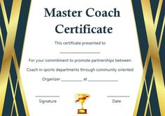 Coach Certificate Of Appreciation: 9 Professional Templates for His/Her Outstanding Performance/Service - Template Sumo Award Certificates, Certificate Templates, Soccer Images, Name Signature, Certificate Of Appreciation, How To Make Notes, Writing Tips, Sumo