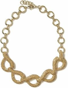 Banana Republic Glamour Link Heavy Gold Toggle Necklace NWOT 89 New stores Now