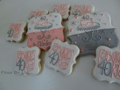 Fabulous 40 Birthday Cookies. $ 72 via Etsy.
