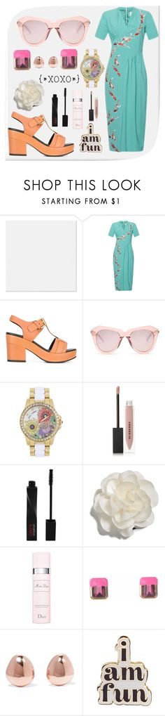 """I Am Fun"" by missmygreenhair ❤ liked on Polyvore featuring Stella Jean, Cotélac, Karen Walker, Betsey Johnson, Burberry, Smashbox, Cara, Christian Dior, Sabina Kasper and Monica Vinader"