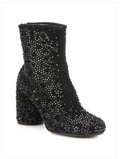 Sale $558 ... crushed suede crystal boots by Maison Margiela