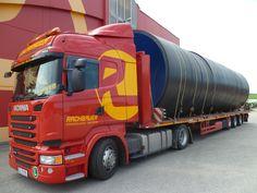 Sondertransport eines überdimensionalen Rohr innerhalb Österreich