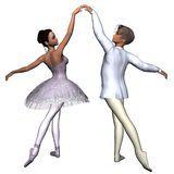 Ballet Pas De Deux - 1 Royalty Free Stock Image