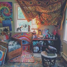 buddha-blunts:  buddha-blunts:  just a lil corner of mine I happen to be in love w/ not sure if it's because of the 50+ elephants, the art pieces I've yet to finish,  or the trippy rugs– ((good luck trying to get me to leave this))  my room on my dash