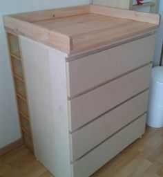 Sultan Lade + Malm + Benno = changing table – IKEA Hackers is creative inspiration for us. Get more photo about diy ikea decor related with by looking at photos gallery at the bottom of this page. We are want to say thanks if you like to share this post … Ikea Nursery, Nursery Storage, Nursery Ideas, Nursery Shelves, Nursery Rugs, Nursery Organization, Project Nursery, Ikea Malm, Ikea Hacks