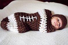 NFL Footbal Newborn Hat Cocoon Set