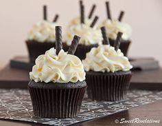 Dark Chocolate Peppermint Cupcakes | SweetRevelations