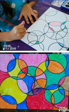 [orginial_title] – Jenn @ Sweet T Makes Three Kids Art Projects – Watercolor Circle Art. The results are always eye catching n… Kids Art Projects – Watercolor Circle Art. The results are always eye catching no matter how kids chose to paint it! Classe D'art, Watercolor Circles, Kids Watercolor, Watercolor Canvas, Art Diy, Circle Art, Circle Crafts, Circle Canvas, Preschool Art