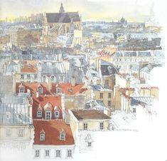 Paris Sketchbook. Художник Fabrice Moireau.