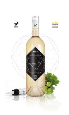 Bock Winery - Albus Wine (Concept) by Szilvia Tongori Wine Labels, Bottle Labels, Vodka Bottle, Design Art, Web Design, Graphic Design, Art Designs, Label Design, Package Design