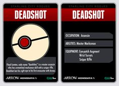 Starling City Villain Card - Deadshot