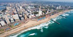South Durban is a city in South Africa. Durban has a lot of stemming from the fact that it is a major destination. Among its most visited attractions are the Golden Mile, and Entertainment World, the uShakra World, King's Park Stadium, and Racecourse. Places To Travel, Travel Destinations, Places To Visit, Holiday Destinations, Holidays In April, Costa, Durban South Africa, Travel Center, Namibia