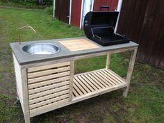 Un petit coin barbecue construit étape par étape... Idéal pour l'été !
