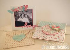 Idee scrapbooking mini album San Valentino in arrivo…