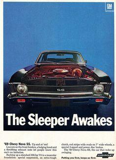 1969 Chevrolet Nova SS Advertising Hot Rod Magazine December 1968