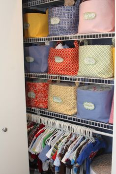 baby closet organizer bins with cute labels