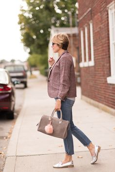 blazer (Talbots c/o ON SALE), denim (dl1961 ON SALE), loafers (Sole Society c/o LOVE THESE METALLIC LOAFERS), tee (Sole Society), bag (Clare V), pom pom (Dune London), shades (Sole Society), rings (Anna Beck) I absolutely love the distressed meets polished combo.  It's right up my alley and a style I go to more often than not.  To …