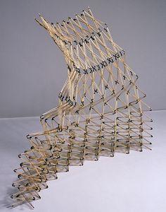 flexible stick sculpture