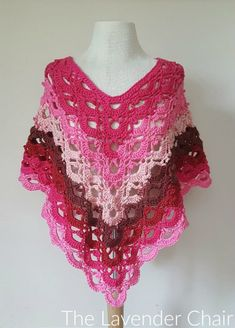 Gemstone Lace Poncho (Toddler/Child) Crochet Pattern - The Lavender Chair