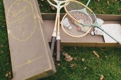 """When guests get sick of doing the Charleston, give them the option of playing drunk badminton. 