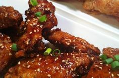 Korean Extra Crispy Fried Chicken, by Amy Jeanroy. Pinned from Foodista.