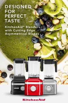 From soups to smoothies to salsas, the KitchenAid® Blender Collection is designed to deliver perfect taste. Whether you are trying new recipes, eating healthy or entertaining friends, it is easy to make the most out of every ingredient. New Recipes, Crockpot Recipes, Soup Recipes, Cooking Recipes, Healthy Recipes, Cooking Hacks, Smoothie Recipes, Smoothies, Healthy Drinks