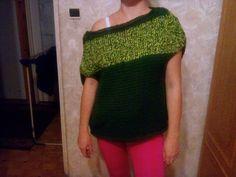 Witam! Mam do sprzedania ręcznie robiony na drutach pulower z miękkiej wełny rozmiar 34/36