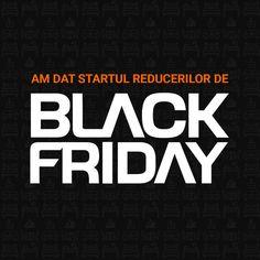 A început Black Friday! Black Friday, Adidas Logo, Logos, Logo