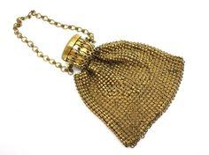 Gold Metal Mesh Purse  Gate Top 1920s Miniature by VintageInBloom, $39.00