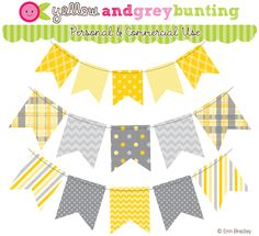 Happy Tuesday! :) I just finished adding some new blue, pink & yellow (and gray!) bunting graphics to the website:             These match t...