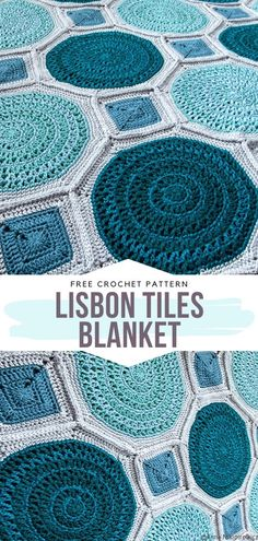 Lisbon Tiles Blanket Free Crochet Pattern Have you ever been to Lisbon? Lisbon Tiles Blanket Free Crochet Pattern Have you ever been to Lisbon? Crochet Circle Pattern, Crochet Hexagon Blanket, Crochet Cushions, Granny Square Crochet Pattern, Crochet Squares, Crochet Blanket Patterns, Crochet Blocks, Crochet Blankets, Granny Square Projects