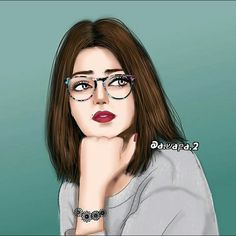 Thinkin something 🤔 Cartoon Girl Images, Girl Cartoon, Sarra Art, Girly M, Lovely Girl Image, Cute Girl Drawing, Girly Drawings, Girl Sketch, Girly Pictures