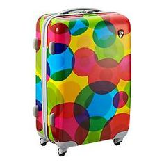 """The Container Store > Bubble 26"""" Rolling Luggage--I would always know which piece of luggage was mine. =)"""