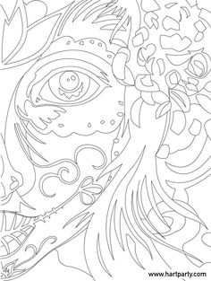 Sugar Skull Traceable for the online Art lesson The Art Sherpa