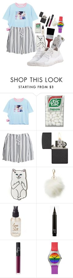 """Sans titre #26"" by unechelou ❤ liked on Polyvore featuring Chicnova Fashion, WithChic, Zippo, RIPNDIP, Charlotte Russe, Olivine, NARS Cosmetics, May28th and Y-3"