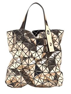 7a1fa8d0e629 Geometric Fashion - metallic gold Prism Bag with flexible