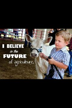 I believe in The future of agriculture. That's the very first sentence in the FFA creed! this truly is the future of agriculture! Country Quotes, Country Life, Country Girls, Show Cows, Farm Show, Cattle Barn, Show Cattle, Farm Animals, Cute Animals