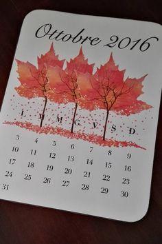 October 2016 calendar printable download di RorysGraphic su Etsy