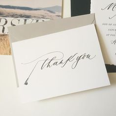 Fly fishing thank you card by Cast Calligraphy