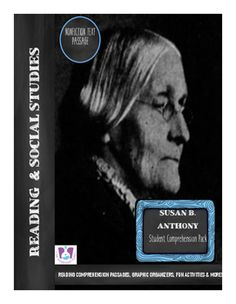 Teachers! Are you in need of activities to teach your students about Women's History? These Social Studies worksheets are perfect for reading with your kids. Susan B. Anthony's biography and activities are included!