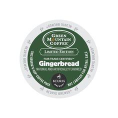 Green Mountain Coffee Fair Trade Gingerbread K-Cups 24ct Seasonal