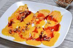 El carpaccio de mango es una manera ligera y diferente de comer esta fruta. ¡Dísfrútalo! Mint Oil, Mango, Fabulous Foods, Macaroni And Cheese, Berries, Appetizers, Snacks, Vegan, Breakfast