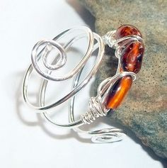 Amber Gemstone Ring $25