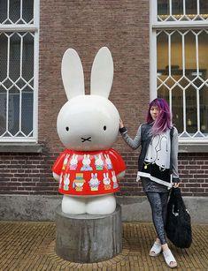 miffy museum utrecht, miffy travel in the netherands, art parade statues amsterdam. more on La Carmina blog - http://www.lacarmina.com/blog/2016/07/miffy-museum-utrecht-holland-dick-bruna-bunny/ #lacarmina #miffy #nijntje