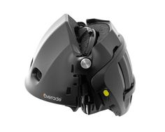 The Overade folding helmet is meant to fold and fit in a bag or purse, perfect for those who frequently use bike-share: