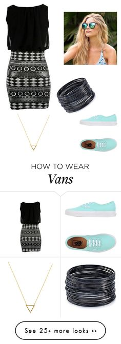 """""""Hold Up. Where's the Vans?"""" by madyks on Polyvore featuring Vans, Wanderlust + Co, Quay and ABS by Allen Schwartz"""