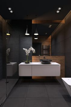 "Auf @Behance habe ich dieses Projekt gefunden: ""bathroom / blackstyle"" https://www.behance.net/gallery/41144825/bathroom-blackstyle"