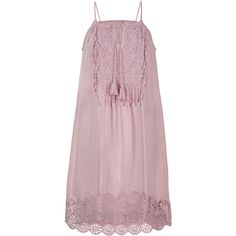 Monsoon Ava Lace Dress ($96) ❤ liked on Polyvore featuring dresses, monsoon dresses, lace dress, cutout dress, embroidered dress and fringe dress