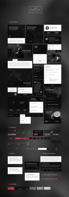 Royal UI Kit | #uikit #webdesign #ui